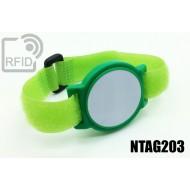 Braccialetti RFID ABS a strappo NFC NTAG203 1