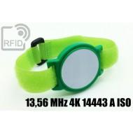 Braccialetti RFID ABS a strappo 13,56 MHz 4K 14443 A ISO