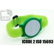 Braccialetti RFID ABS a strappo ICODE 2 ISO 15693