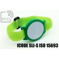 Braccialetti RFID ABS a strappo ICODE SLI-S ISO 15693