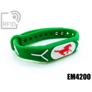 Braccialetti RFID silicone rilievo EM4200
