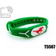 Braccialetti RFID silicone rilievo T5567 1