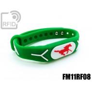 Braccialetti RFID silicone rilievo FM11RF08
