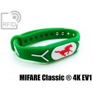 Braccialetti RFID silicone rilievo MIFARE Classic ® 4K