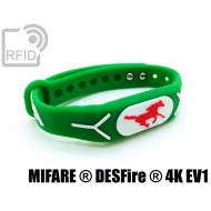 Braccialetti RFID silicone rilievo NFC MIFARE ® DESFire ® 4K