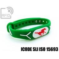 Braccialetti RFID silicone rilievo ICODE SLI ISO 15693