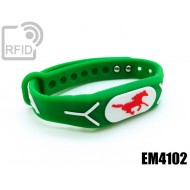 Braccialetti RFID silicone rilievo EM4102