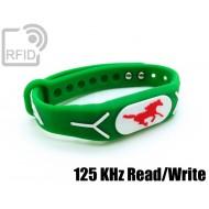 Braccialetti RFID silicone rilievo Read/Write 125 Khz