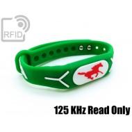 Braccialetti RFID silicone rilievo 125 KHz Read Only