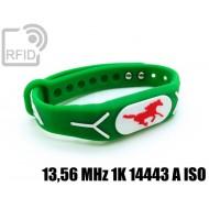 Braccialetti RFID silicone rilievo 13,56 MHz 1K 14443 A ISO