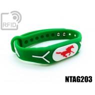 Braccialetti RFID silicone rilievo NFC NTAG203
