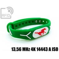 Braccialetti RFID silicone rilievo 13,56 MHz 4K 14443 A ISO