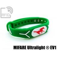 Braccialetti RFID silicone rilievo NFC MIFARE Ultralight ® E