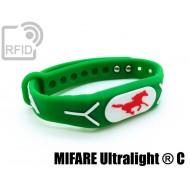 Braccialetti RFID silicone rilievo NFC MIFARE Ultralight ® C