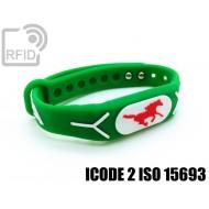 Braccialetti RFID silicone rilievo ICODE 2 ISO 15693