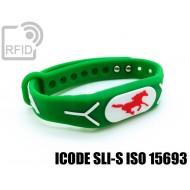 Braccialetti RFID silicone rilievo ICODE SLI-S ISO 15693