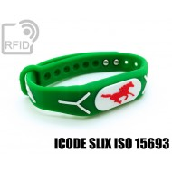 Braccialetti RFID silicone rilievo ICODE SLIX ISO 15693