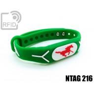 Braccialetti RFID silicone rilievo NFC NTAG216