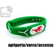Braccialetti RFID silicone rilievo apriporta/varco/accesso