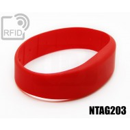 Braccialetti RFID silicone fascia NFC NTAG203 1