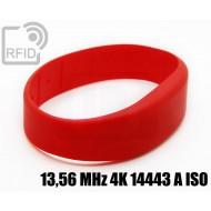 Braccialetti RFID silicone fascia 13,56 MHz 4K 14443 A ISO