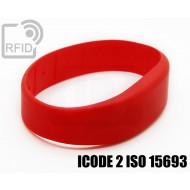 Braccialetti RFID silicone fascia ICODE 2 ISO 15693