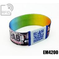 Braccialetti RFID elastico 25 mm EM4200
