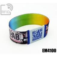 Braccialetti RFID elastico 25 mm EM4100