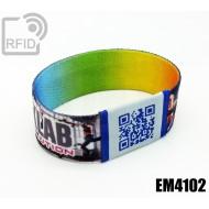 Braccialetti RFID elastico 25 mm EM4102