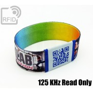 Braccialetti RFID elastico 25 mm Read Only 125 Khz