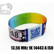 Braccialetti RFID elastico 25 mm 13,56 MHz 1K 14443 A ISO