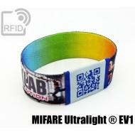 Braccialetti RFID elastico 25 mm NFC MIFARE Ultralight ® EV1