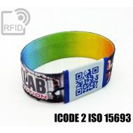 Braccialetti RFID elastico 25 mm ICODE 2 ISO 15693