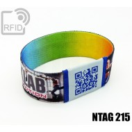 Braccialetti RFID elastico 25 mm NFC NTAG215 1