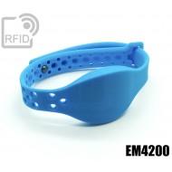 Braccialetti RFID silicone clip metallo EM4200