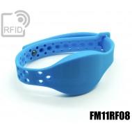 Braccialetti RFID silicone clip metallo FM11RF08