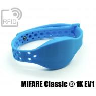 Braccialetti RFID silicone clip metallo MIFARE Classic ® 1K