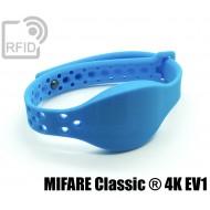 Braccialetti RFID silicone clip metallo MIFARE Classic ® 4K