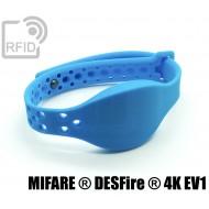 Braccialetti RFID silicone clip metallo NFC MIFARE ® DESFire