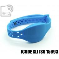 Braccialetti RFID silicone clip metallo ICODE SLI ISO 15693