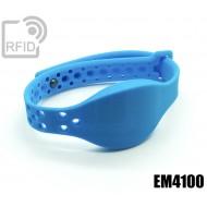 Braccialetti RFID silicone clip metallo EM4100