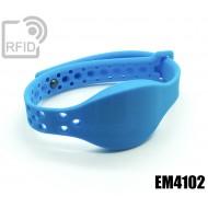 Braccialetti RFID silicone clip metallo EM4102