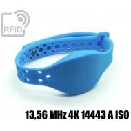 Braccialetti RFID silicone clip metallo 13,56 MHz 4K 14443 A