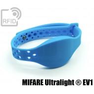 Braccialetti RFID silicone clip metallo NFC MIFARE Ultraligh