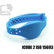 Braccialetti RFID silicone clip metallo ICODE 2 ISO 15693