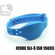 Braccialetti RFID silicone clip metallo ICODE SLI-S ISO 1569