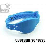 Braccialetti RFID silicone clip metallo ICODE SLIX ISO 15693