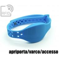 Braccialetti RFID silicone clip metallo apriporta/varco/acce