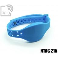 Braccialetti RFID silicone clip metallo NFC NTAG215 1