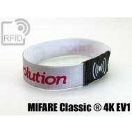Braccialetti RFID elastico 15 mm MIFARE Classic ® 4K EV1 1